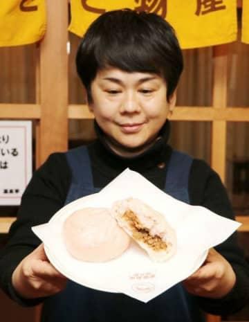 「姫とうがらし」でピリ辛肉まん 道の駅奥津温泉、冬のグルメに 画像