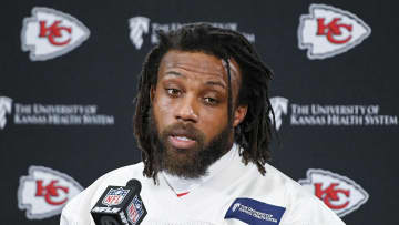 Kansas City Chiefs defensive back Eric Berry during a news conference on Friday, January 18, 2019, ahead of the AFC Championship Game against the New England Patriots in Kansas City, Mo. - John Sleezer/Kansas City Star/TNS