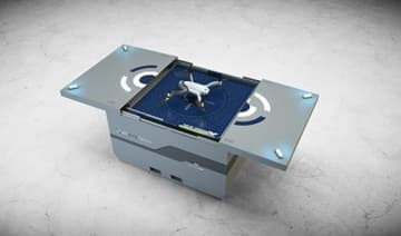 Drone-in-a-box surveillance solution Skeyetech.