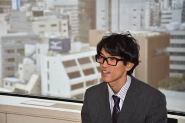 「東京パラリンピックで金メダルを目指したい」と語る熊谷豊さん(東京都千代田区の三井住友海上火災本社)