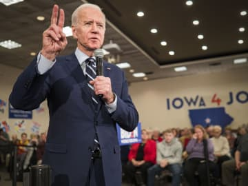 Former US Vice President Joe Biden speaks during a campaign event at the Gateway Hotel and Conference Center in Ames, Iowa on Tuesday, Jan. 21, 2020. - Jack Kurtz/Zuma Press/TNS