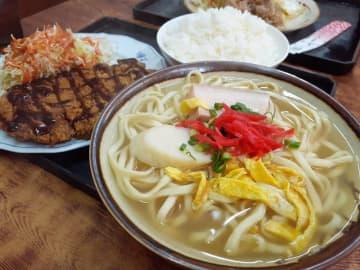 今日もがっつり!運転手メシ(319)糸満市西崎の「サンマ亭」でそばトンカツセットを食べたの巻 画像