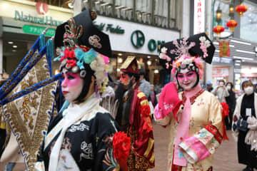 お祝いムード一色 神戸・南京町で2020年春節祭開催