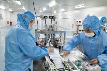 マスク製造、供給確保に向け急ピッチ 湖南省常徳市
