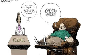 Sit back and relax (Drew Sheneman/)