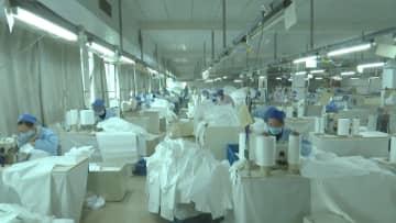 医療用防護服製造企業が急きょ生産再開 浙江省台州市