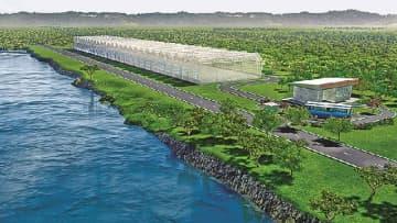 野菜水耕栽培実証実験施設の完成イメージ