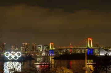 オリンピックシンボル点灯式&花火