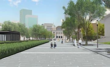 中之島通の完成イメージ(大阪市提供)