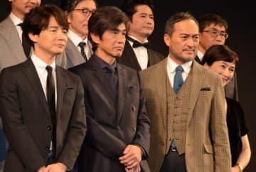 『Fukushima 50』への熱い思いを語った佐藤浩市(左から2番目)と渡辺謙(左から3番目)