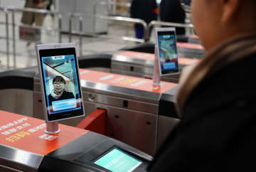 地下鉄に顔認証改札導入 陝西省西安市