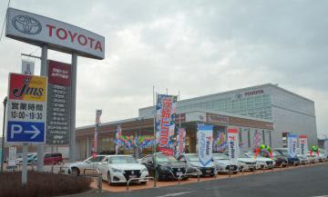 完成した茨城トヨタ自動車の新本社屋=水戸市千波町