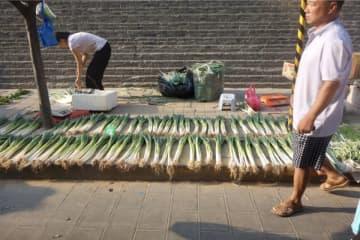 A morning market in Xi'an. (Image credit: Liu Weiqi)