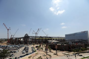 A general view of construction of Globe Life Field on June 20, 2019 in Arlington, Texas. - Ronald Martinez/Getty Images North America/TNS