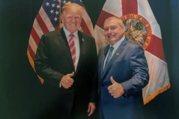 Lev Parnas and President Donald Trump. Parnas turned when Trump said he didn't know him.  [House Judiciary Committee via AP[ - /Observer-Dispatch/The Palm Beach Post, Fla./TNS