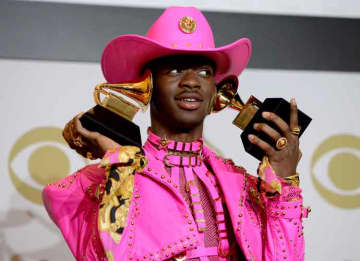 LOS ANGELES, CALIFORNIA - JANUARY 26: Lil Nas X, winner of Best Music Video and Best Pop Duo/Group Performance for