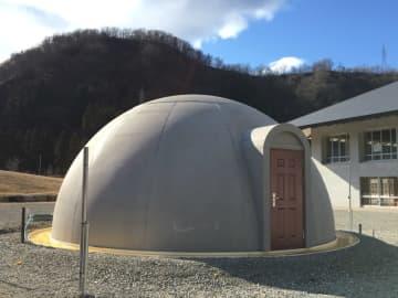 白山麓キャンパス内に研究用ドームハウスを設置。