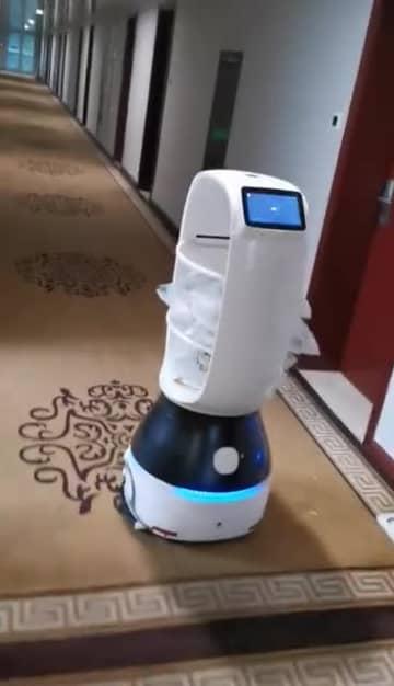 杭州市の隔離施設が配膳ロボット導入 浙江省