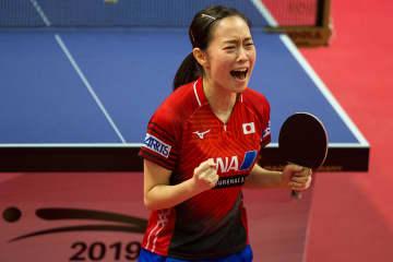 ノースアメリカンオープン決勝で石川が平野との直接対決を制して優勝/写真:新華社/アフロ