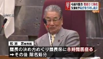 議長席に8時間居座り…松浦元市議の除名取り消し求めた裁判 訴えを「却下」 北海道札幌市