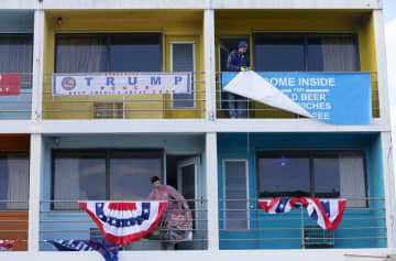"""The Wildwoods prepare for the arrive of President Donald Trump and his """"Keep America Great Rally,"""" Sunday, Jan. 26, 2020. Tim Hawk 