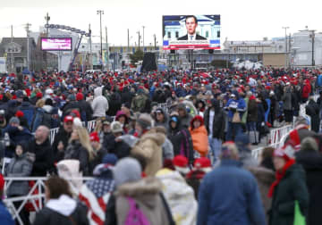 """People wait in line to enter the Wildwoods Convention Center for President Donald Trump's """"Keep America Great Rally"""" in Wildwood, Tuesday, Jan. 28, 2020. Tim Hawk   NJ Advance Media for NJ.com (Tim Hawk   NJ Advance Media for NJ.com/)"""