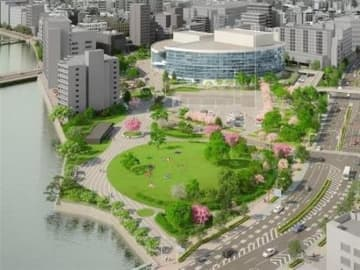 福岡・須崎公園に新文化施設 24年開業、市民会館と一体再整備