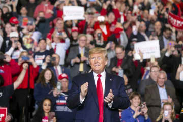 President Donald Trump holds a rally at the Wildwoods Convention Center in the boardwalk in Wildwood on Tuesday. (Aristide Economopoulos | NJ Advance Media for NJ.com/)