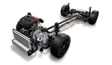 1.6ℓ直列3気筒直噴ターボエンジンとスポーツ4WDシステムによる「GR-FOUR」(画像: トヨタ自動車の発表資料より)