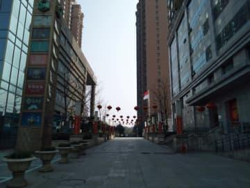 An empty street is seen in Wuhan, Hubei province on Wednesday. (Instagram/Emila via Reuters photo)