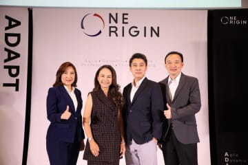Mr Pitipong, second right, says the company aims to launch InterContinental Bangkok Thonglor as a high-end business hotel.