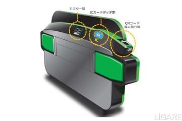 JR東日本、QRに対応した新型改札機の実証行う 新宿と高輪ゲートウェイで