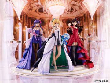 『Fate』15周年記念フィギュア「セイバー」「遠坂凛」「間桐桜」予約受付スタート!武内崇氏デザインのドレスを纏った気品ある姿に