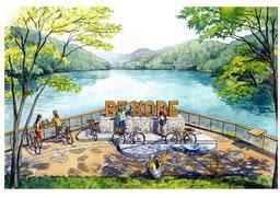 木製となる第3段「BE KOBE」のイメージ図(神戸市提供)