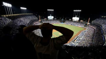 A fan of the Los Angeles Dodgers fan shows his frustration as the Houston Astros beat the Dodgers, 5-1, in Game 7 of the World Series at Dodger Stadium in Los Angeles on Nov. 1, 2017. - Allen J. Schaben/Los Angeles Times/TNS