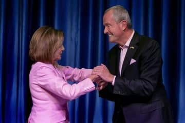 House Speaker Nancy Pelosi and Gov. Phil Murphy at the New Jersey Democratic Conference in September 2019. (Aristide Economopoulos   NJ Adva                    /)