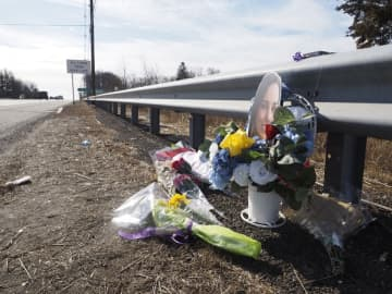 A memorial near the site where Stepanhie Parze's body was found along Route 9 south in Old Bridge. Thursday, Jan. 30, 2020, in Freehold.(Patti Sapone | NJ Advance Media/)