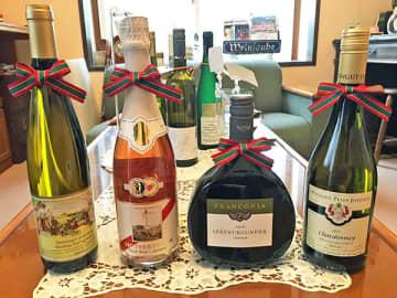 ▲ドイツから直輸入されたワインの数々