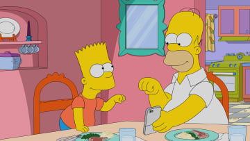 """Bart and Homer Simpson in """"The Simpsons."""" - FOX/FOX/TNS"""