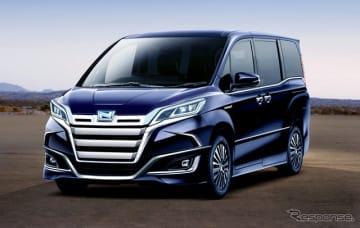 トヨタ ノア 次期型 予想CG。TNGAプラットフォーム採用と、新ハイブリッド搭載が目玉か。