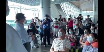 湖北省の観光客199人、チャーター機で武漢に到着