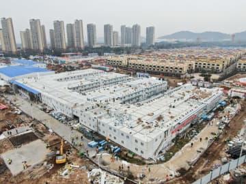 新型肺炎専門の「火神山医院」、10日で完成 武漢市