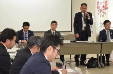 東京五輪サッカー競技の実施に向け開かれた県輸送連絡調整会議=鹿嶋市役所