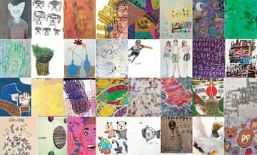 参加するアーティスト32人の作品(studio FLAT提供)