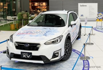 オフィシャルカーとして架装したスバルXV
