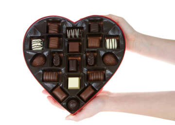 Heart shaped box with chocolate candies are a common gift for Valentine's Day. - Dreamstime/Dreamstime/TNS