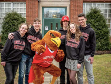 The Provolos -- Victoria, Masha, Ashley, Michael and Marcus -- were awarded all tuition and fees for four years to attend Montclair State University. (Mike Peters, Montclair State University/)