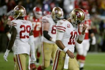 サンフランシスコ・49ersのジミー・ガロポロ【AP Photo/Matt York】