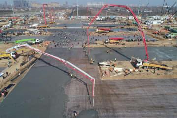 西安市公共衛生センター着工 第1期は10日間で完成予定