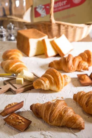 本格日本初上陸の高級フランスバター使用のクロワッサン、食パン、ロールパン、フィナンシェを発売開始